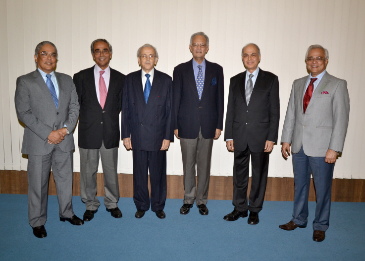Six Past Presidents of Organization of Pharmaceutical Producers of India (OPPI), Mumbai, September 14, 2012
