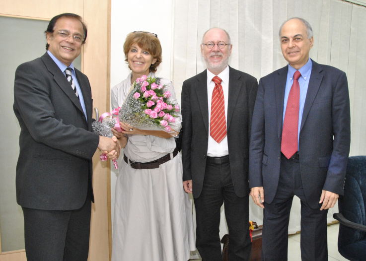 With Mrs. Nivergelt, Swiss Consul General Mr. Nivergelt and Ranjit Shahani. Mumbai, October 14, 2010