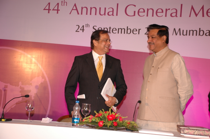 With Minister Shri Prithviraj Chavan, September 24, 2010