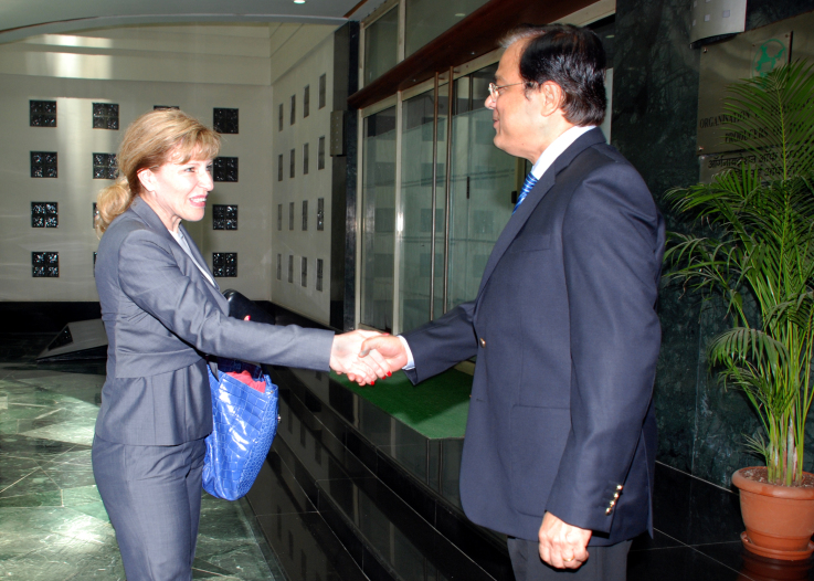 With Ms Kim Stratton, Novartis AG, Basel, Switzerland, May 11, 2010