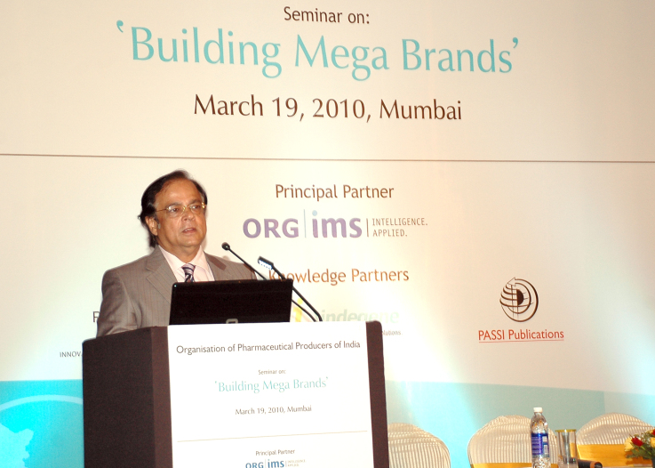 Speaking in 'Building Mega Brands' seminar on March 19, 2010