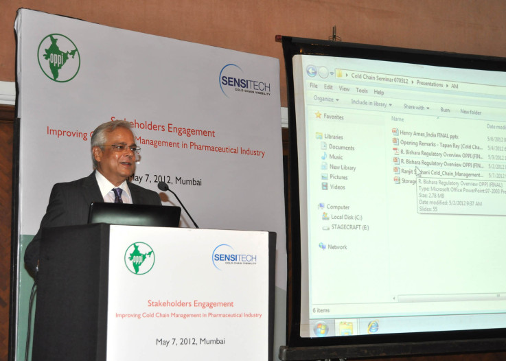 Speaking at the Cold Chain Seminar of OPPI, May 7, 2012