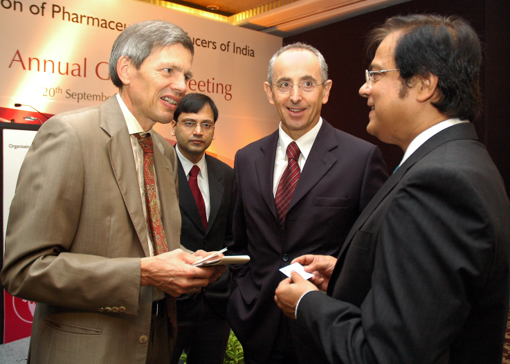 With Mr. Walter Stechel, Consul General, Germany and Juergen Beck, MD Boeringer Ingelheim