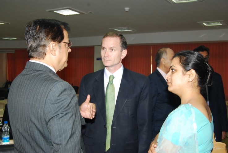 With Dominic Keating of USPTO, US Embassy, New Delhi