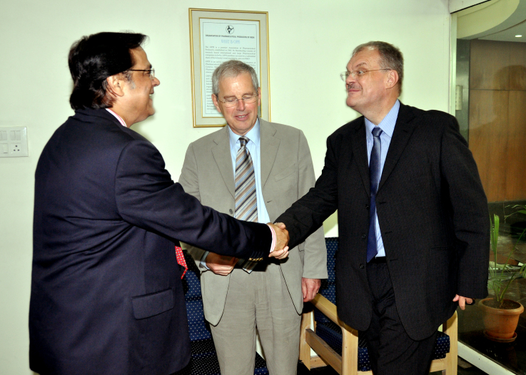 With the CEO of MHRA, UK