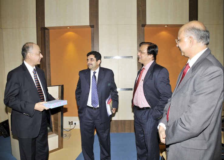 With the Managing Directors of Pharmaceutical Companies in India and KPMG Partner