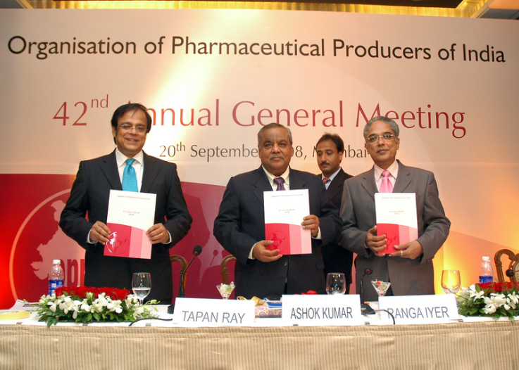 Release of OPPI Annual report by the Secretary Mr. Ashok Kumar of the Department of Pharmaceuticals, Government of India