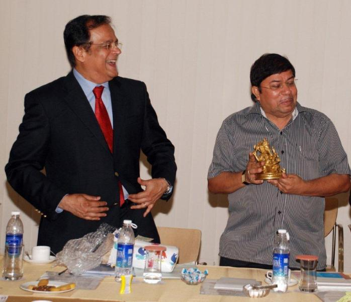 With Mr. G. Balachandhran, IAS, Chairman, National Pharmaceutical Pricing Authority (NPPA), May 26, 2011