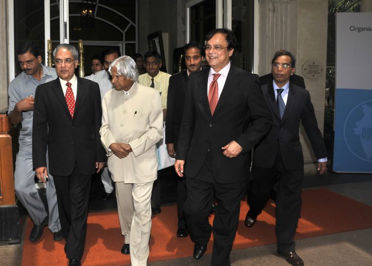 With former President of India Dr. Abdul Kalam